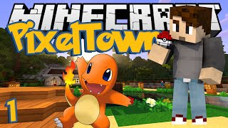 Minecraft: PixelTown Ep. 1 - SHINY CHARMANDER! (Minecraft Pixelmon Mod)