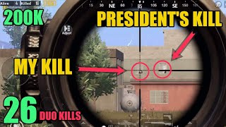 Revealing the President | 200k Special | Duo Vs Squad | PUBG Mobile