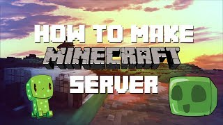How To Make A Minecraft Server 1.14.4 (How to Play Minecraft w/ Your Friends) [Premade DL][Easy]
