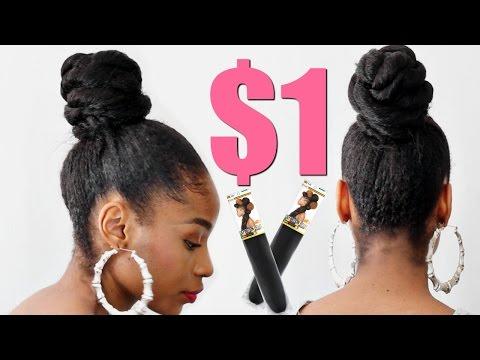 Twisted Bun with Kanekalon Hair► Natural Hair Protective Styles