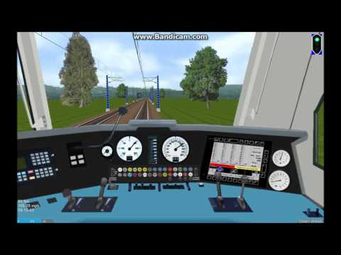 OpenBVE HD EXCLUSIVE: Amtrak AEM-7AC With New E-Bell On the Sellye Pecs Route (6/20/13)