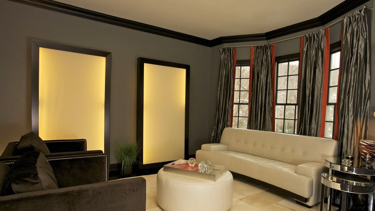 Window treatments for large windows interior design for Interior designs videos