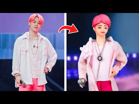 5 Diy Barbie Hacks To Look Like Famous Celebrities / Billie Eilish - Rihanna - Gigi Hadid - Bts