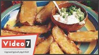 بالفيديو..الوصفة السحرية لعمل «البطاطس المشوية بصوص المايونيز» للتخسيس