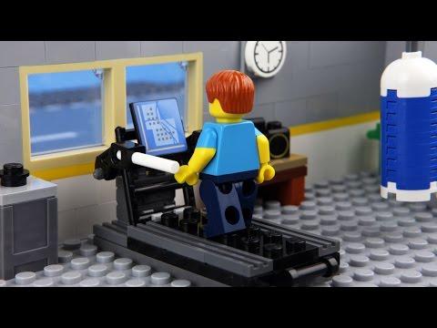 Lego Gym Fail - Unlucky Lego Man