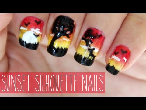 Sunset Silhouette Nails