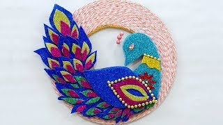 DIY Wall Décor Ideas : How to make Creative Peacock Cardboard Wall Hanging | Best Out of Waste