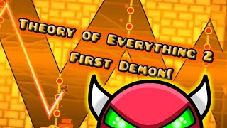 Geometry Dash- ToE2 Complete **My First Demon**