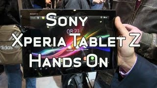 Sony Xperia Tablet Z 6.9mm Thin Android Tablet Hands On