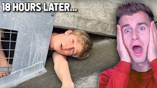 Kid Gets STUCK Under BRIDGE..