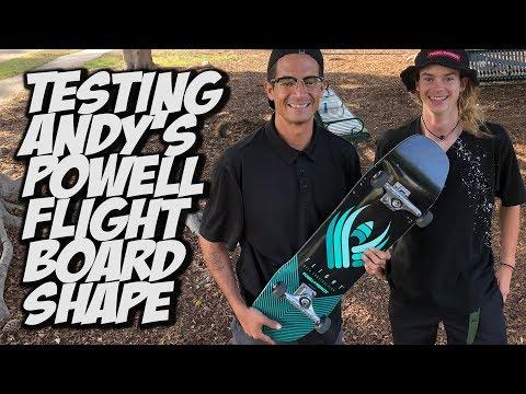 ANDY ANDERSON CUSTOM SHAPE BOARD SET UP AND SKATE TEST !!! - NKA VIDS -
