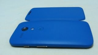 Motorola Flip Cover for Moto G Royal Blue Unboxing and Review (INDIA)