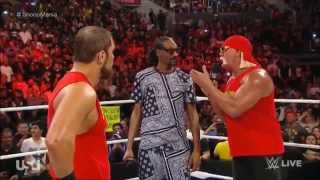 WWE RAW Snoop Dogg & Hulk Hogan Returns 2015