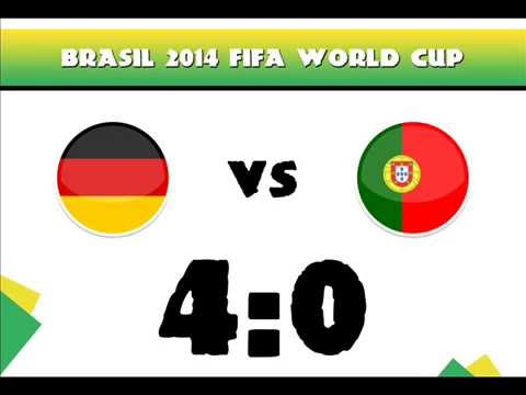 Germany vs Portugal 4-0 2014 All Goals - result / 16.06.2014 Fifa World Cup Brazil 2014