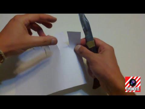 Como Afilar un Cuchillo | Experimentos Caseros