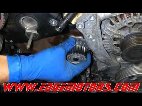 2006-2008 Audi A4 2.0T timing belt and water pump replacement DIY by Edge Motors