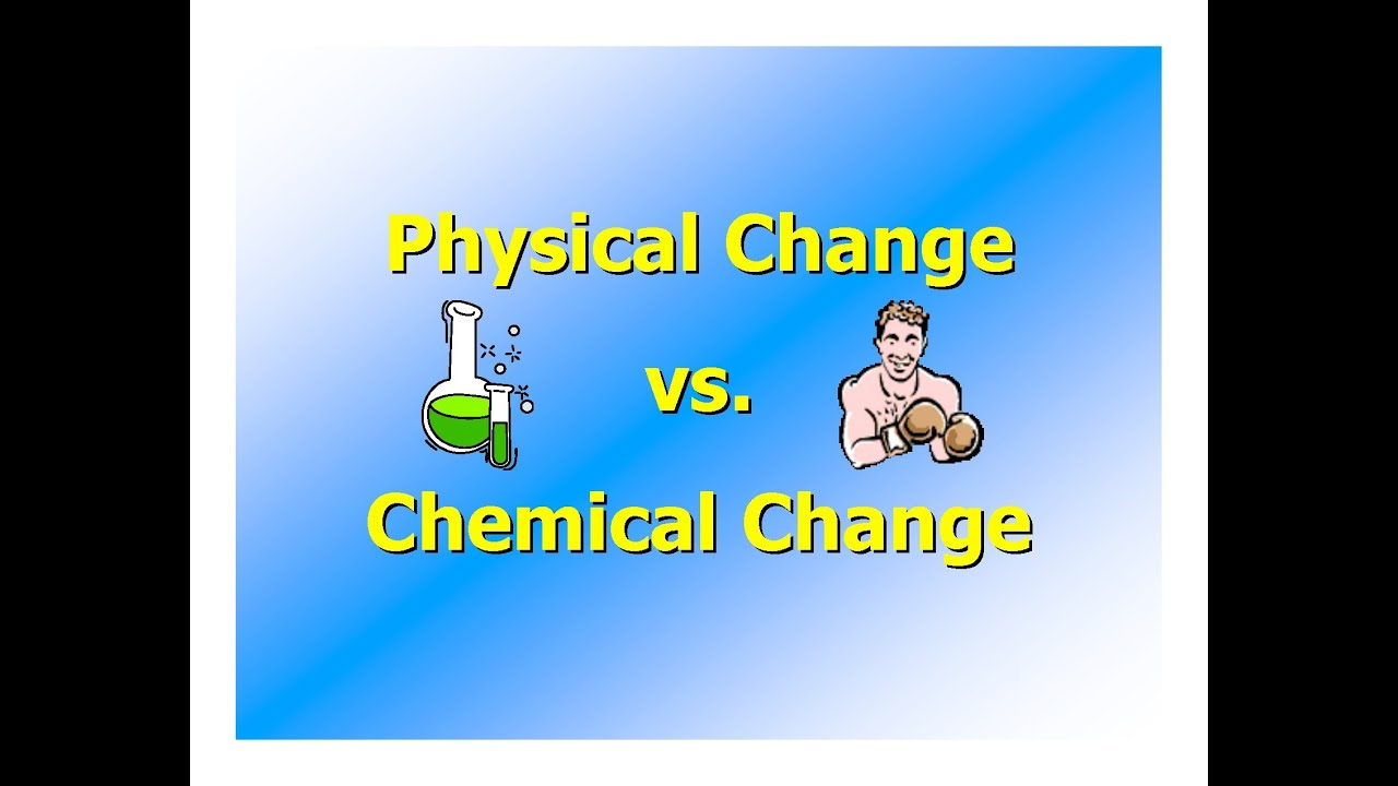 Chemical and Physical Changes - YouTube