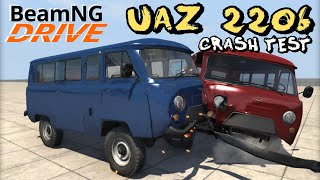BeamNG DRIVE crash test mod UAZ 2206 SUV