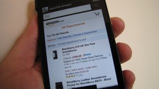 Search for Amazon for BlackBerry 10