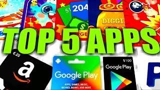 Top 5 Apps per Android che Fanno Guadagnare Soldi e Buoni Regalo!!!