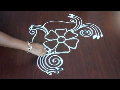 Easy Freehand Kolam ||  Designer Muggulu  || Simple Freehand Rangoli || Rangoli & Fashion World