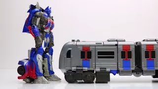 Tobot Train vs Optimus Prime Stop Motion Lego Transformers Animation Mainan Robot Car Toys Kids