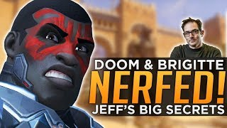 Overwatch: Doomfist & Brigitte NERFED! - Jeff Kaplan's Top Secret Content