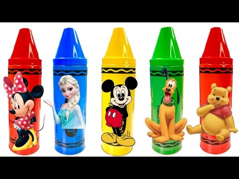 Best Learning Colors Video for Children - Disney Mickey Mouse Clubhouse Crayons