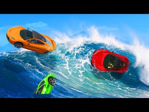 Impossible WAVE SURFING Troll Course! - GTA 5 Funny Moments