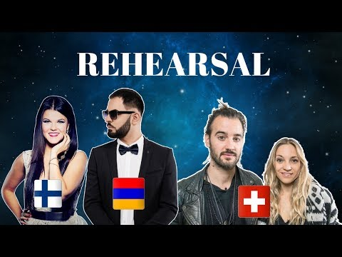 Eurovision 2018 - Finland, Armenia & Switzerland Rehearsal (Press Center)