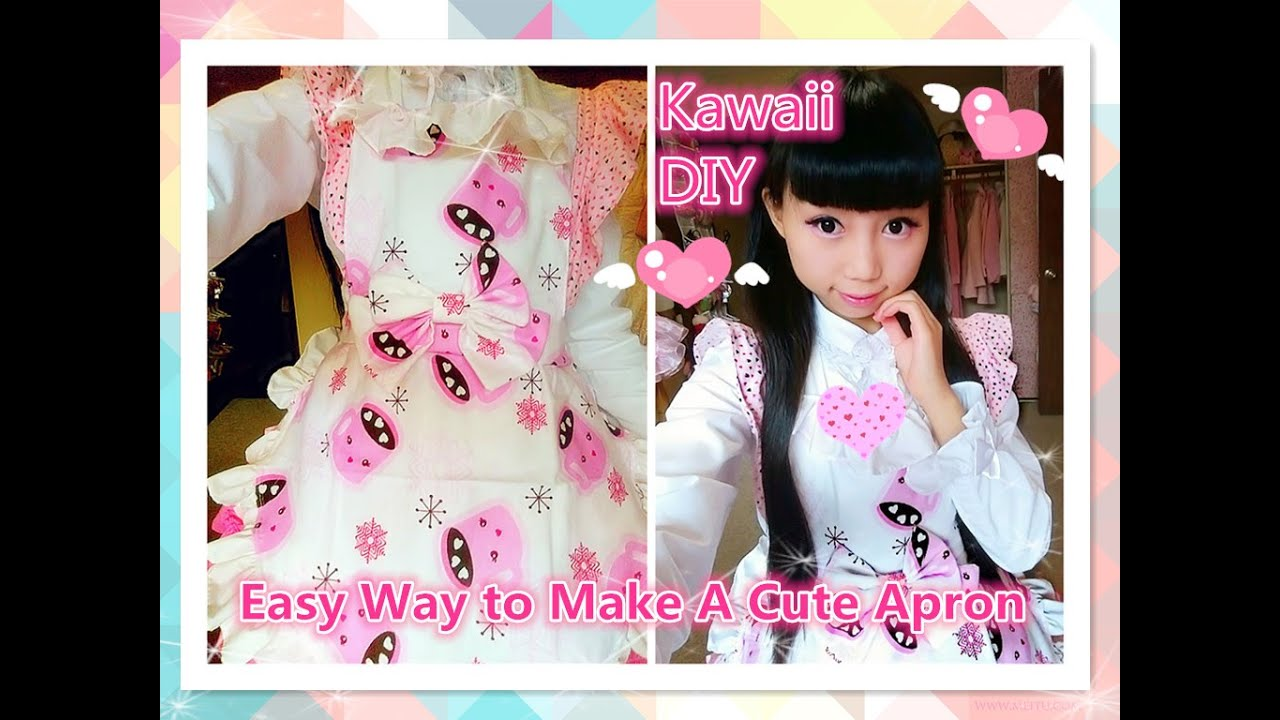 Kawaii DIY - Easy Way to Make A Cute Maid Apron (costume ...