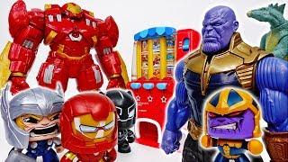 Vending Machine War Between Iron-Man & Thanos~!  - ToyMart TV