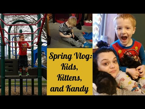 Spring Vlog:  Kids, Kittens and Kandy