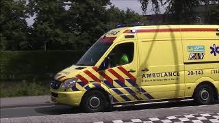 Ambulance oude en nieuwe 20 143 met spoed naar meldingen in Tilburg