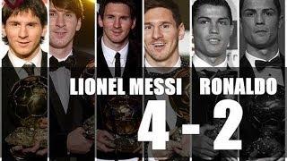 C.Ronaldo VS L.Messi Ballon D'Or • 2008, 2013 / 2009, 2010, 2011, 2012 •