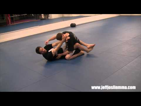 MMA Technique - Basics  - Standing Up From Guard (Shoulder Post) Image 1