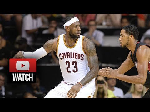 Lebron James Full Highlights vs Heat (2014.10.11) - 7 Pts, 8 Ast, 1st Game vs Wade & Bosh!