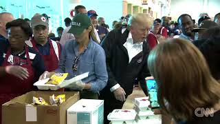 President Trump Serves Food In Houston - Scroll 10 Seconds
