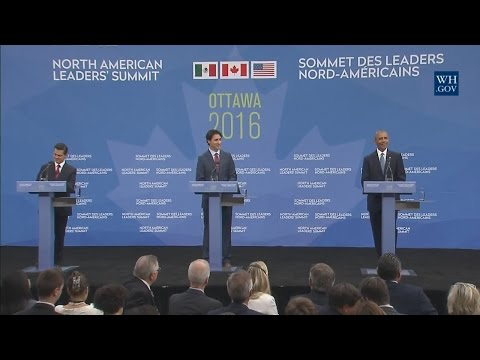 President Obama Participates in a Trilateral Press Conference