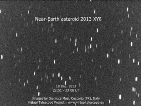 Near-Earth asteroid 2013 XY8 close encounter