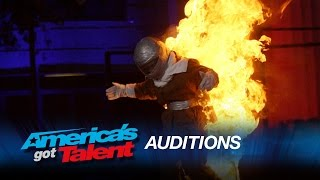 Danger's Angels: Hot Grandma Gets Blown Up in a Limo - America's Got Talent 2015