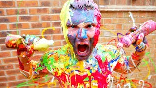 ULTIMATE BODY PAINT SPLATTER CHALLENGE 2017!