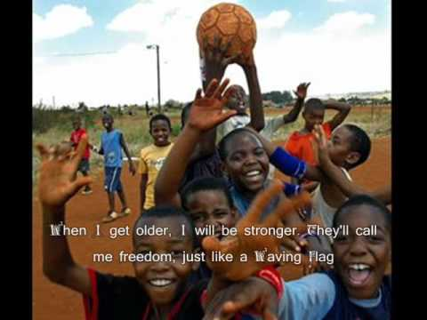Wavin' Flag - K'naan (lyrics) -  World Cup 2010 Original Theme Song Music Videos