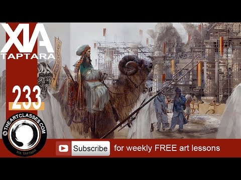 Digital painting tutorial princess and bannermen concept art