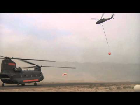 Helicopters Fight Wenatchee Wildfire - Washington National Guard Fights Fire