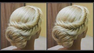 Быстрая и легкая прическа.Легко сделать самой себе.????Fast beautiful and easy hairstyle. Easily!???