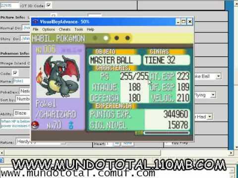 Generador Gameshark  Pokemon Ruby,Esmeralda Español! obten todos los pokemons