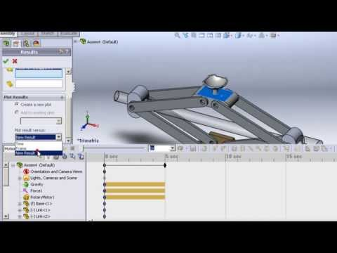 Solidworks 2011 - Tutorials - Assembly & Motion simulation of a Car Jack