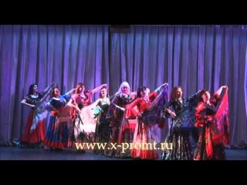 """Цыганский танец  с шалями """"Маменька"""" . Школа танцев """"Экспромт"""""""