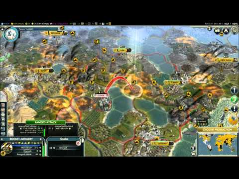 Civilization V - Episode 9, part 14 - Russia vs Japan & Mongolia
